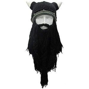 Halloween Costume Knit Mask Wig Beard Hat